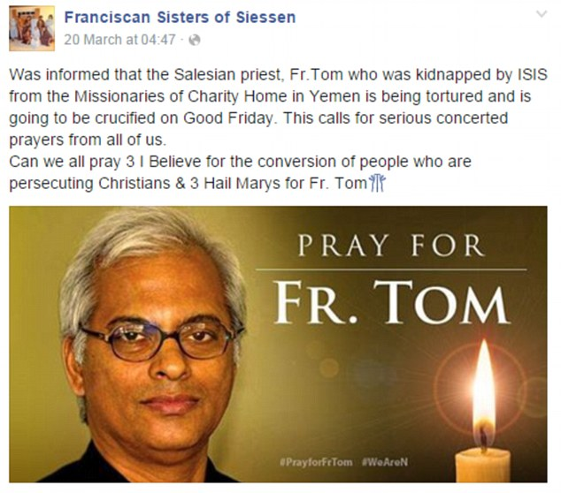 Keuskupan Agung Wina: Ada Harapan Pastor Tom masih Hidup
