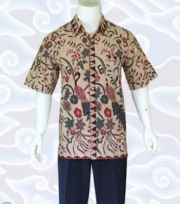 model baju batik pria elegan