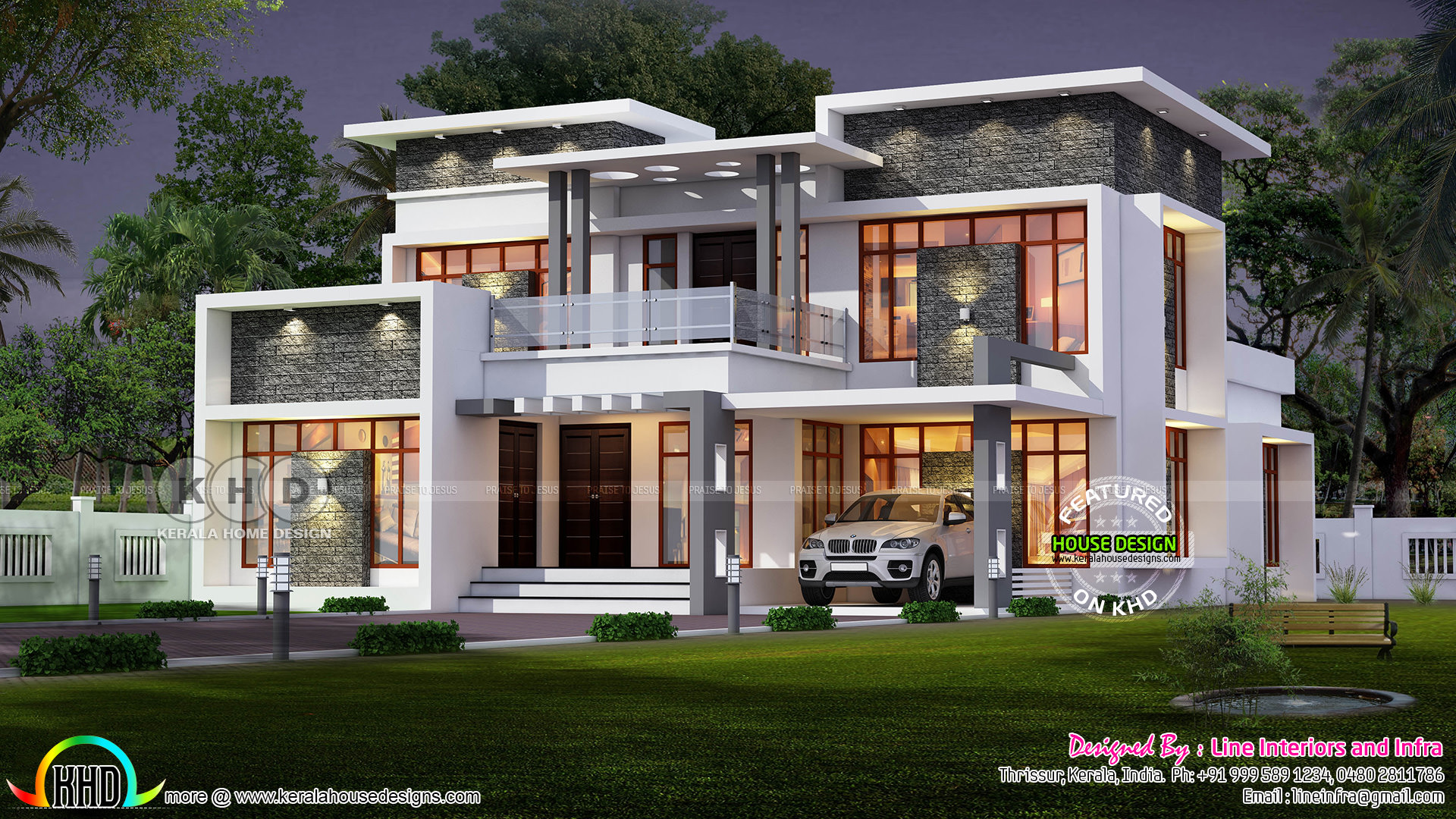 modern contemporary home - 35+ Modern Contemporary House Designs In Kerala Background