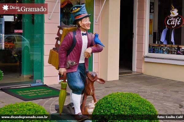 Loja de relógios cucos em Gramado/RS