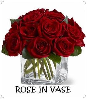 Bunga Meja Mawar Merah