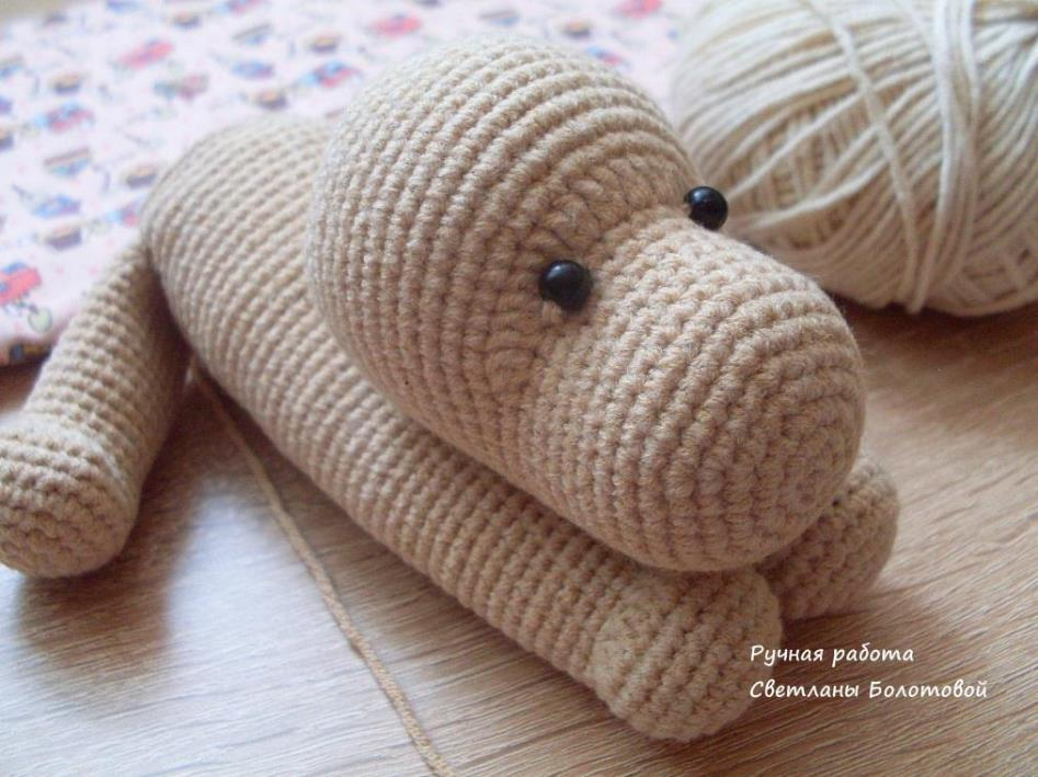 Crochet dog free amigurumi pattern