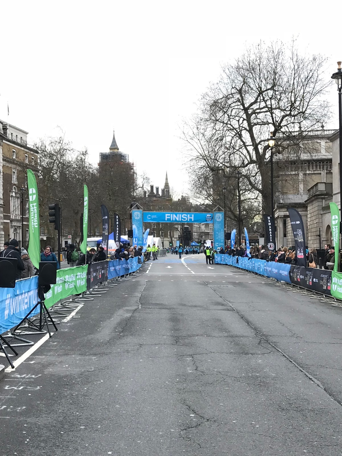Ziel Finish London Winter Run