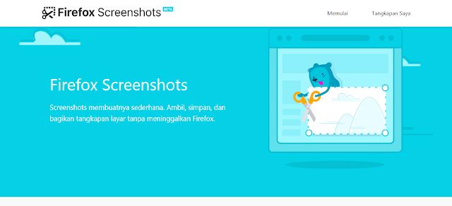 Cara screenshot dari Mozilla fitur terbaru
