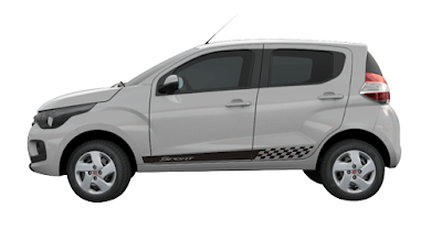 Adesivo lateral LA para X11Auto para Fiat Mobi.