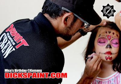 Face Painting Horror Kids Jakarta sugarskull