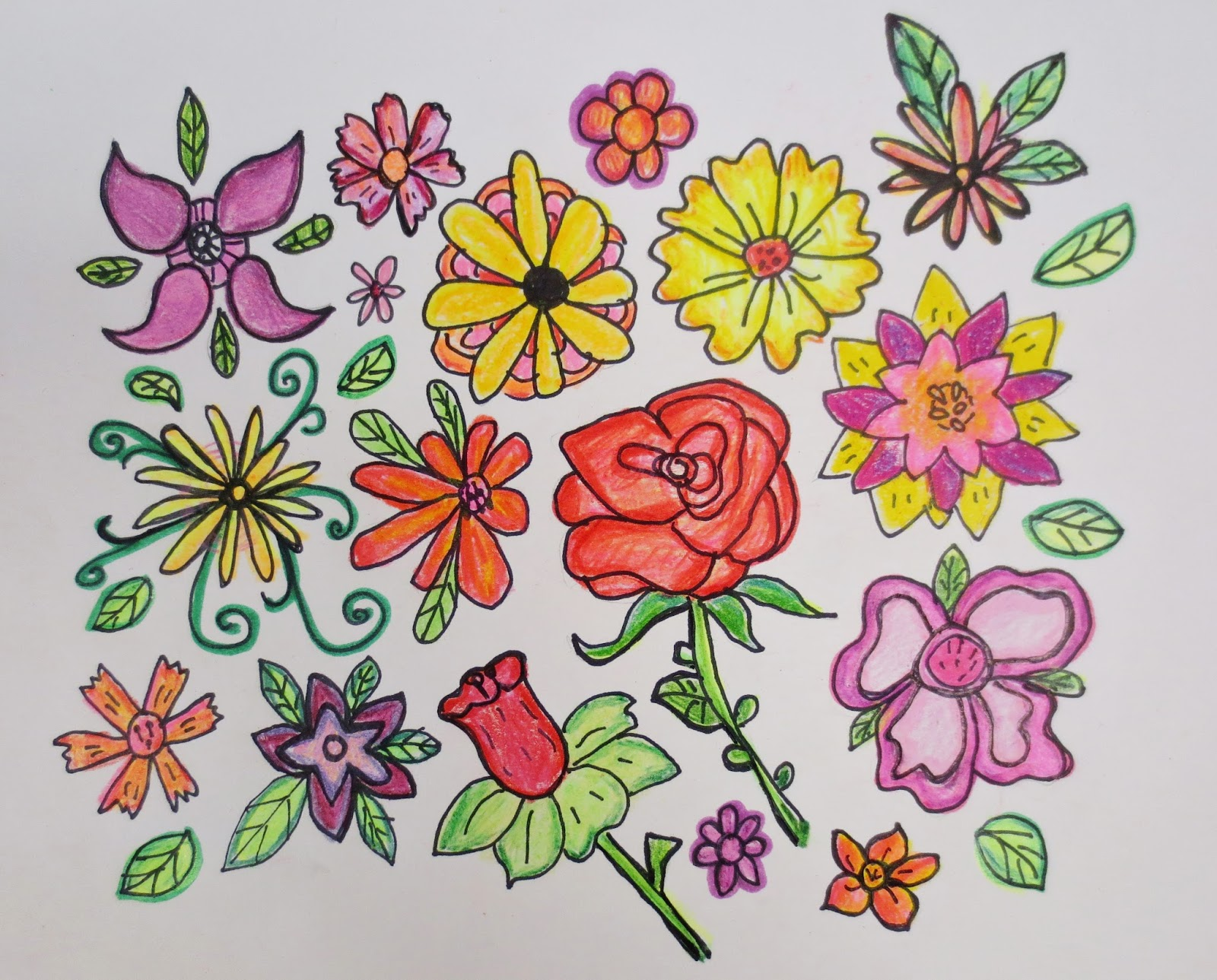 Published Article, Colored Pencil Flowers and My Latest Creative ...