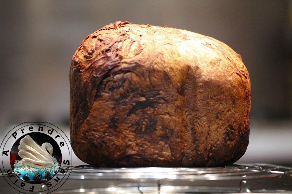Pain viennois menthe-chocolat à la machine