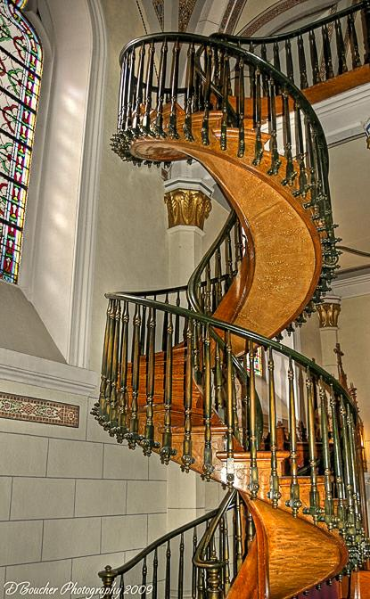 The Resulting Staircase Is An Impressive Work Of Carpentry. It Ascends  Twenty Feet, Making Two Complete Revolutions Up To The Choir Loft Without  The Use Of ...