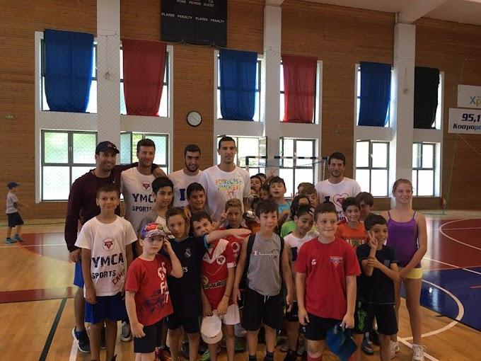 Ο Νίκος Ζήσης επισκέφθηκε το Sports Camp της ΧΑΝΘ