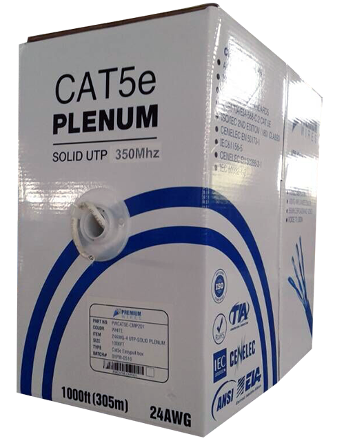 cat5e plenum 1000ft cmp 350mhz utp 24awg bulk ethernet. Black Bedroom Furniture Sets. Home Design Ideas