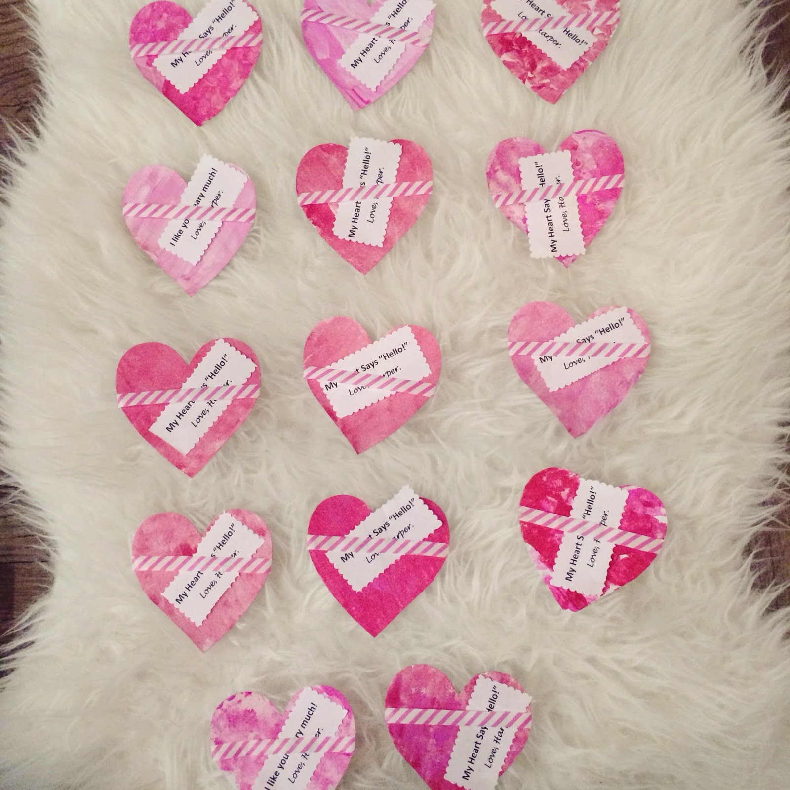 Veronika's Blushing: DIY Valentines & Valentine Exchange