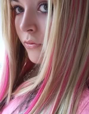 Wedding Updo Hairstyle The Blonde Hair With Pink Highlights