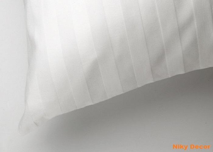 Lenjerii - de - pat - damasc- satinat - alb