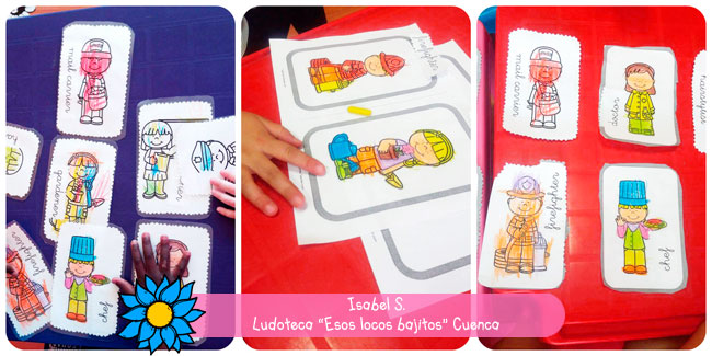 Isabel desde Cuenca trabajando con las flash cards