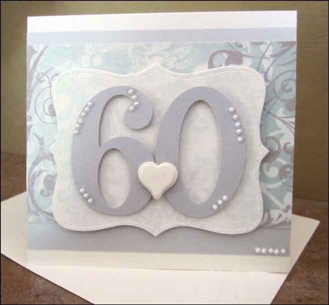 60th Wedding Anniversary Gifts For Friends: Altered Scrapbooking: 60th Anniversary Card