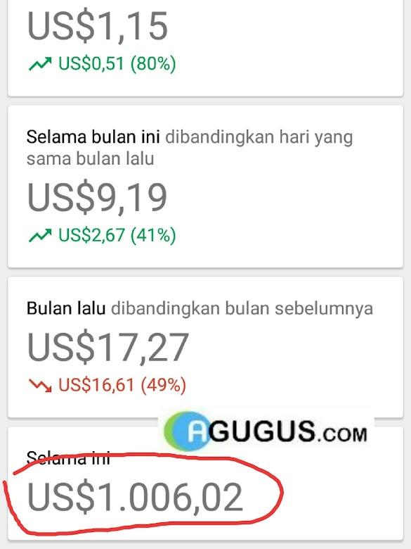 Cara saya mendapatkan 1000 dollar dari Google Adsense