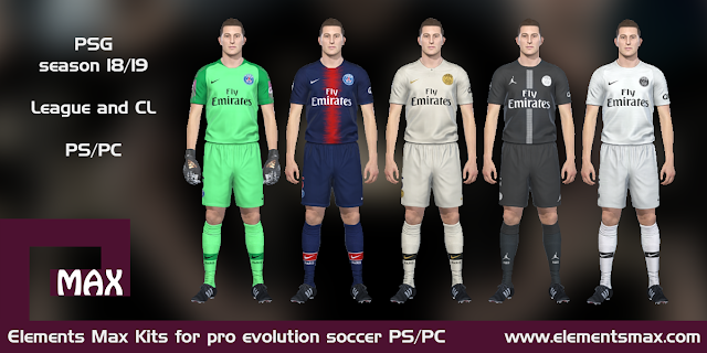 Paris Saint-Germain 18/19 pes kits