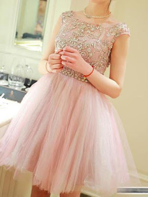 Scoop Short/Mini Tulle Chic Homecoming Dresses Short Prom Dresses #SP8129