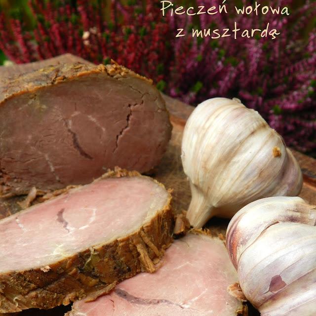 Pieczeń wołowa z musztardą z wolnowaru