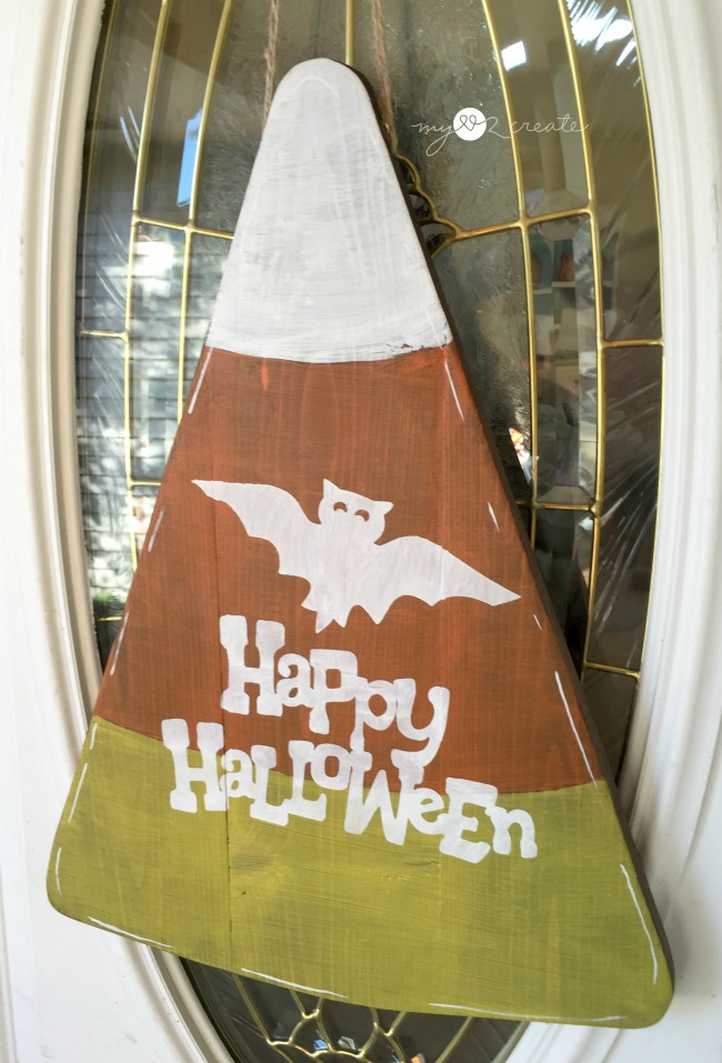 Candy Corn Halloween Door Hanger, MyLove2Create