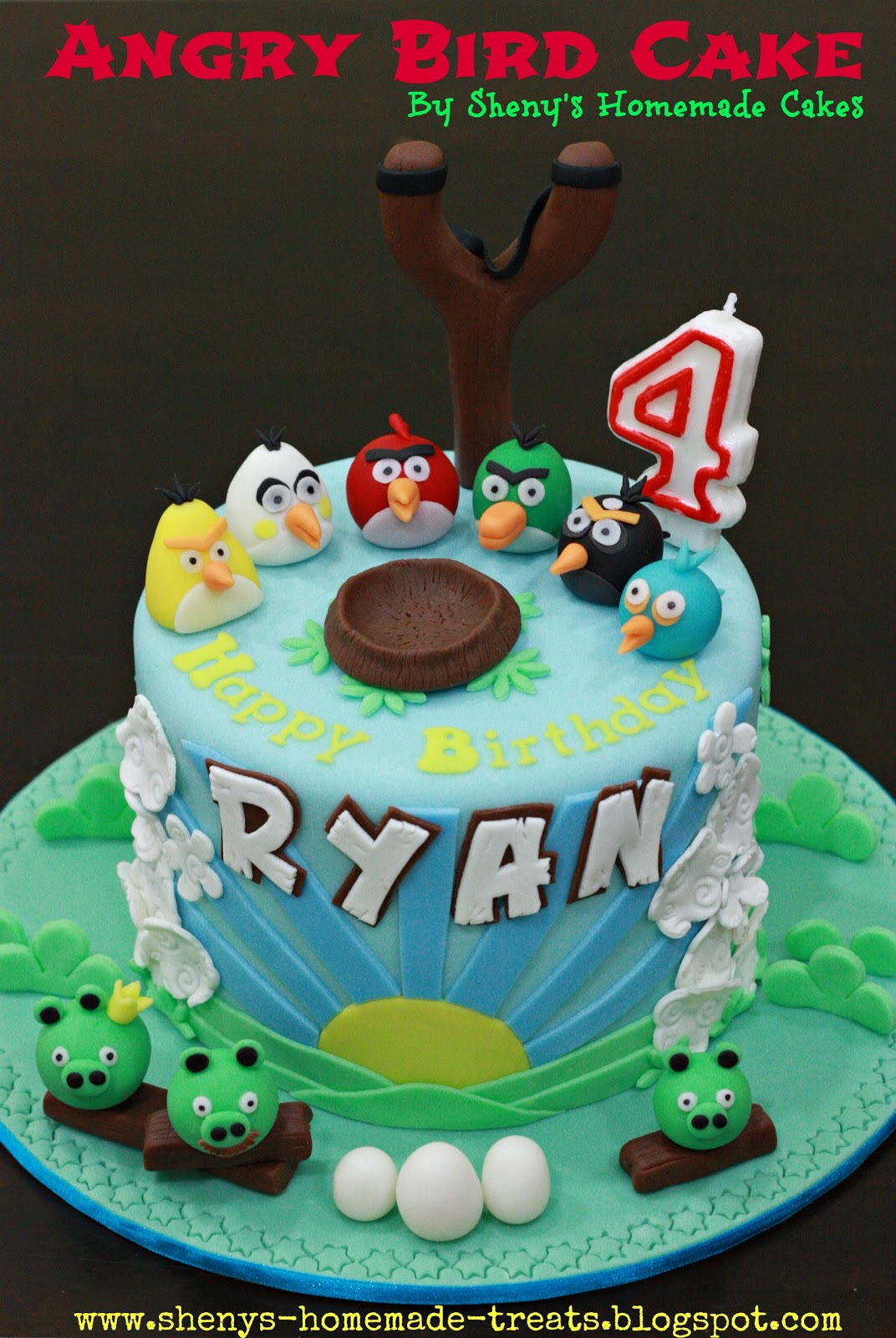 Sheny S Homemade Treats Angry Bird Themed Birthday Cake