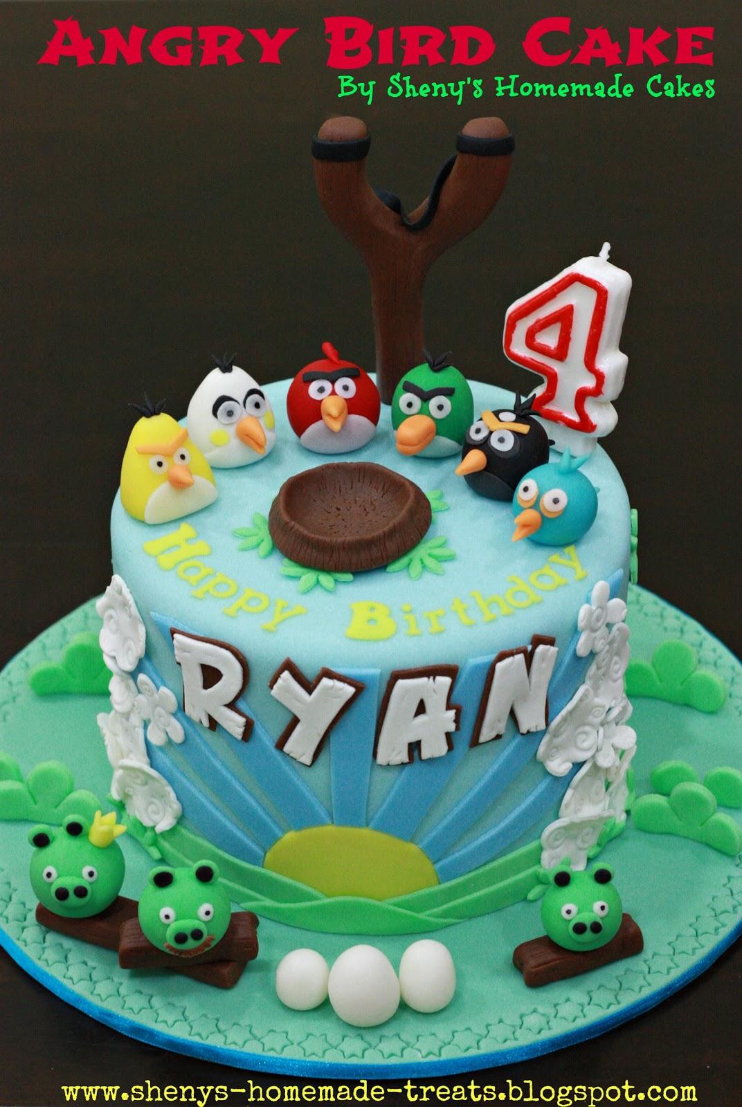 Sheny S Homemade Treats Angry Bird Themed Birthday Cake