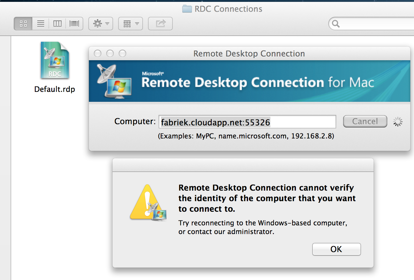 Gert Lombard's blog: Remote Desktop Connection for Mac OSX - cannot