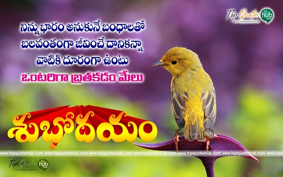 Cute Telugu Good Morning Quotes With Images