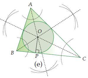 Cara Melukis Lingkaran dalam Segitiga