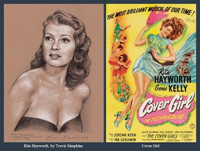 Rita Hayworth. 1918-1987. Hollywood Actress. Cover Girl. by Travis Simpkins