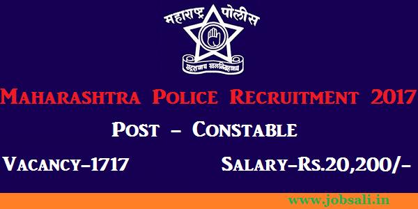Maharashtra police bharti 2017, police constable vacancies in Maharashtra, Police bharti 2017-18 maharashtra