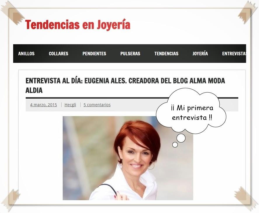 "Entrevista de ""Tendencias en Joyería"""