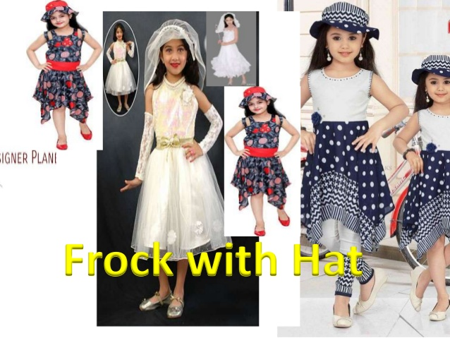 Kids Frock with Cap or Hat