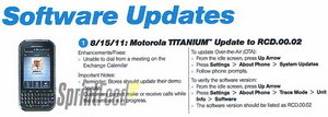 Motorola Titanium firmware update coming