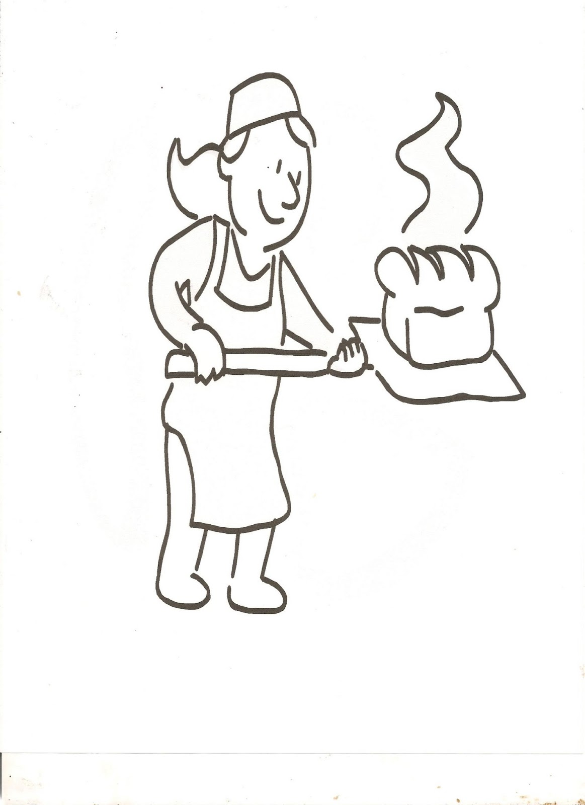 loaf of bread coloring page or the letter b  adventures