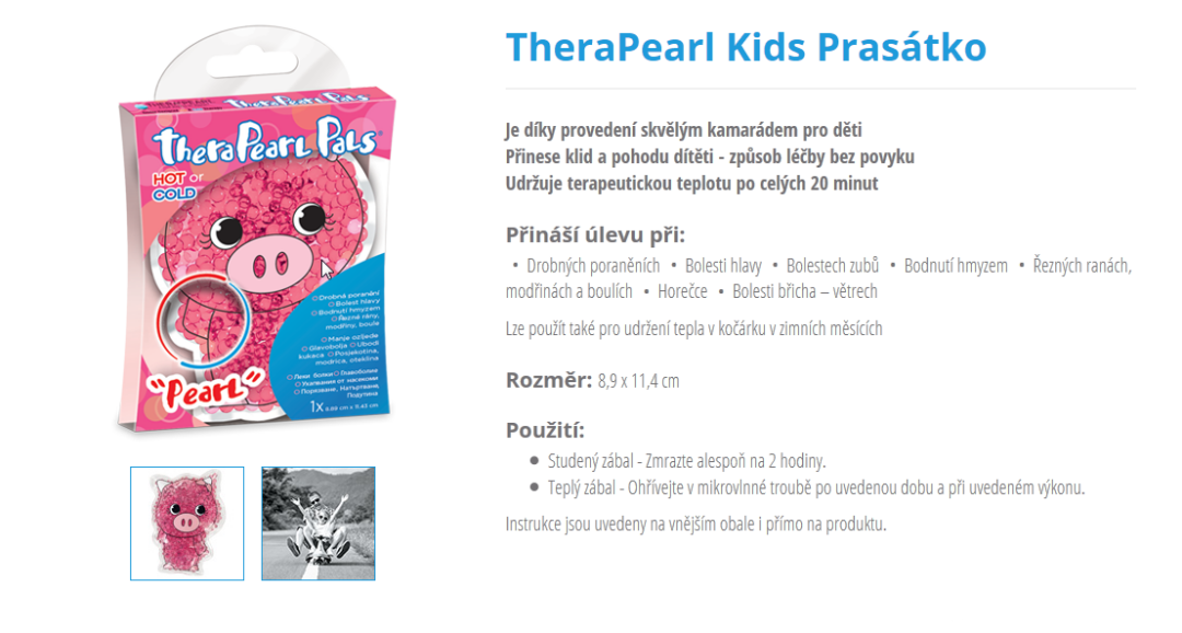 therapearl, bolavá záda, chladivé gelové polštářky, terapie chladem, terapie teplem