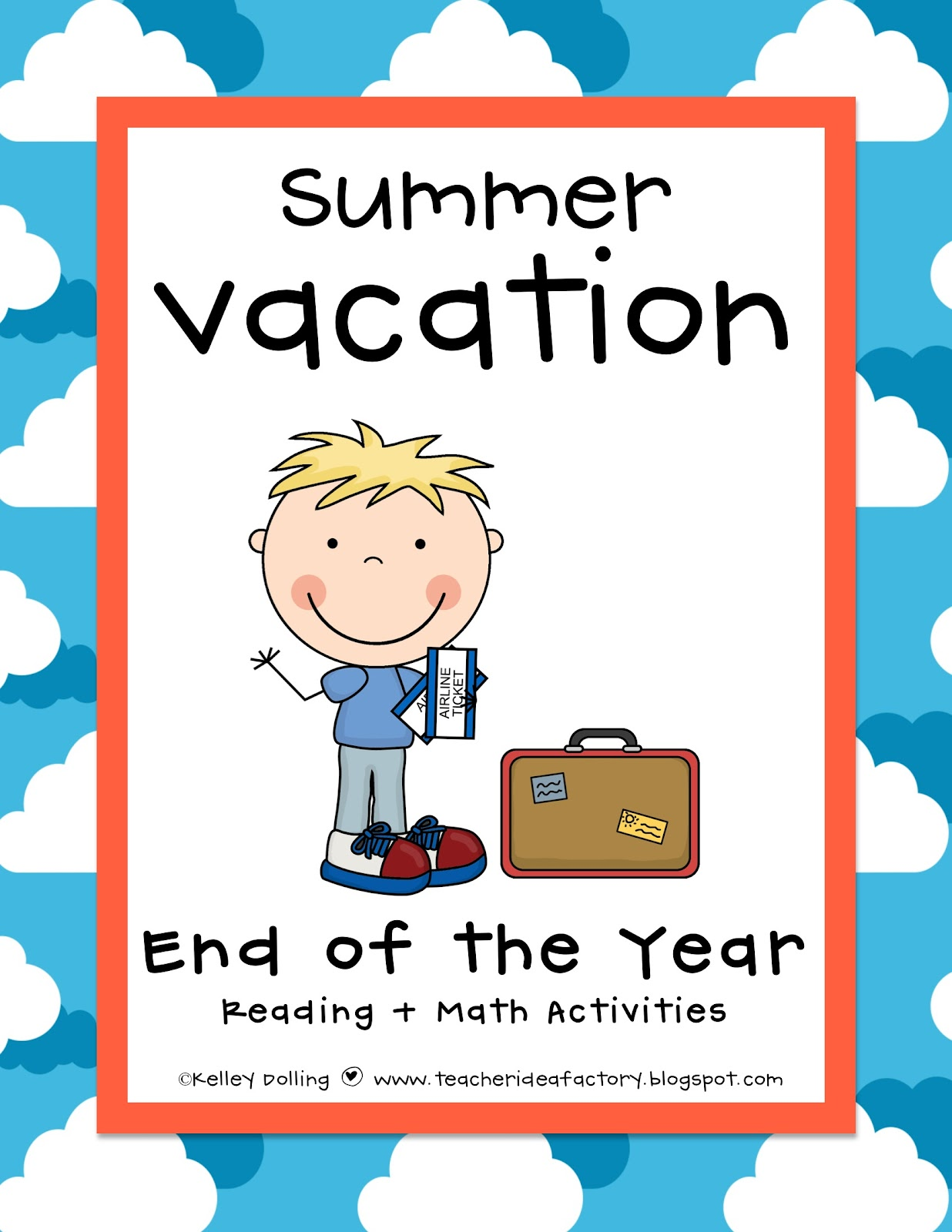 End Of The Year Activities Freebie