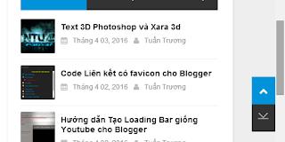Tạo nút lên, xuống bên phải Sidebar cho Blogger