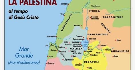 Cartina Geografica Palestina.Religionereligioni La Palestina Al Tempo Di Gesu Cartina