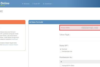 e-Form Proses Gagal | e-Form Error