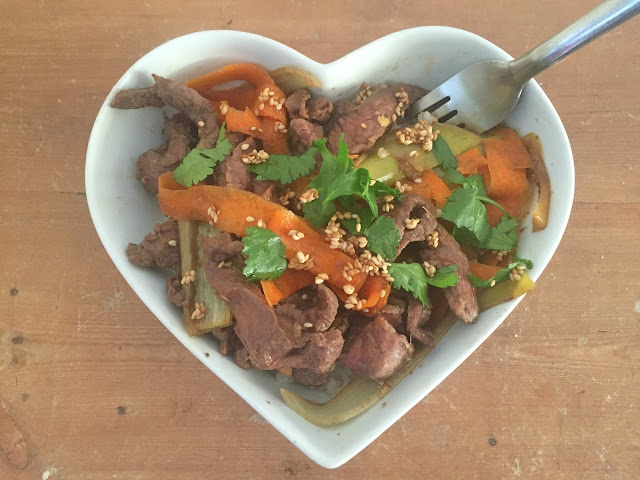 steamed beef teriyaki
