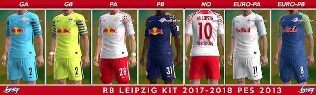 RB Leipzig Kit 2017-2018 PES 2013