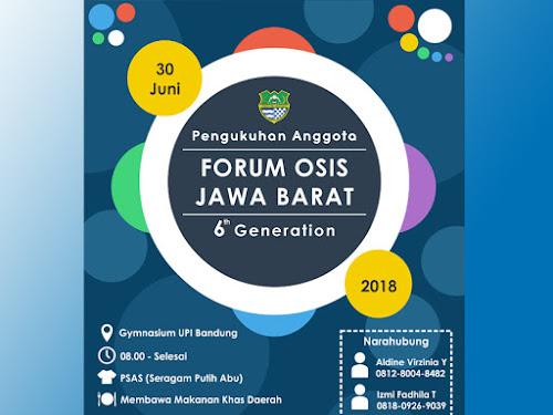 Pengukuhan Forum OSIS Jawa Barat 2018