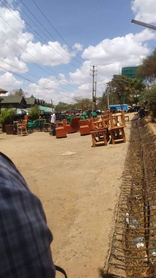 sidai - Biashara imekuwa ngumu! Auctioners raid the popular Sidai Oleng joint along Kiambu Road famous for 'Mashakura' (PHOTO)