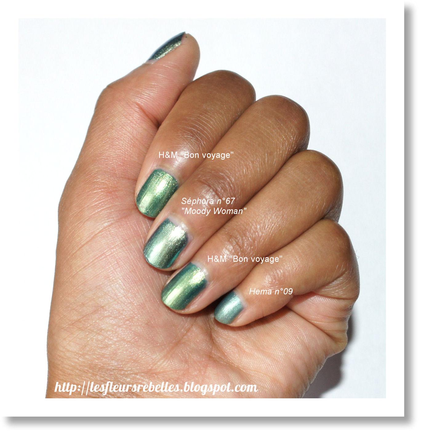 033d1cede7 De jolis vernis verts [Sephora, H&M et Hema]