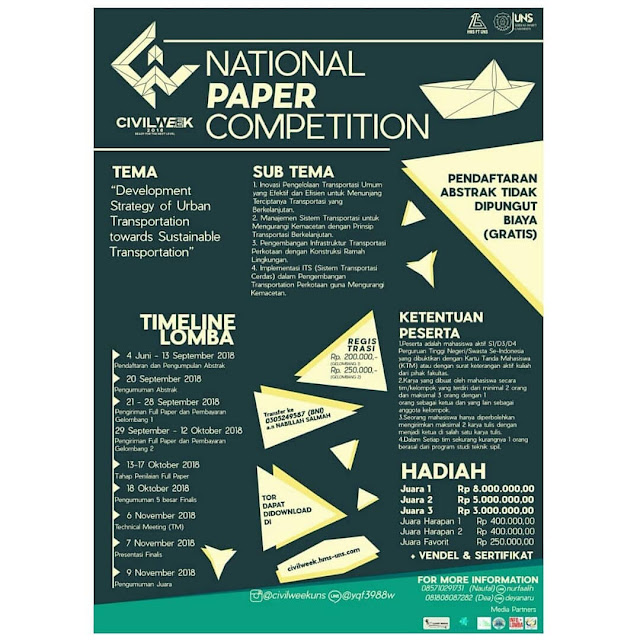 National Paper Competition CIvilWeek 2018