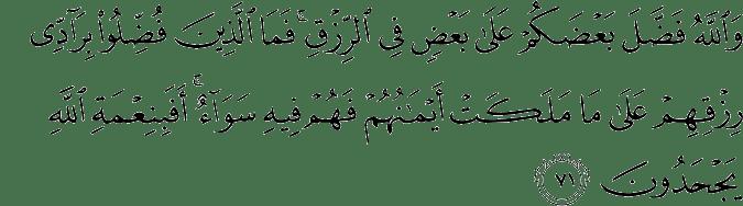Surat An Nahl Ayat 71