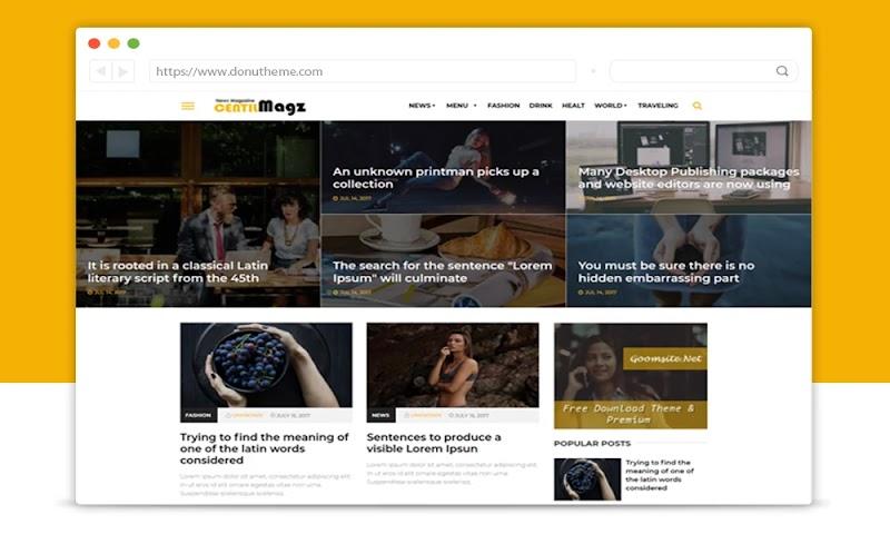 Centilmagz Responsive Blogger Template - Responsive Blogger Template