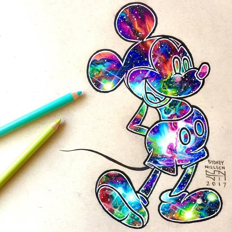 08-Galaxy-Mickey-Mouse-Sydney-Nielsen-Pencil-Drawings-www-designstack-co